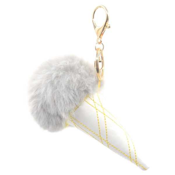 Ice Cream PomPom Keychain - Pack of 12:Mila Lifestyle Accessories