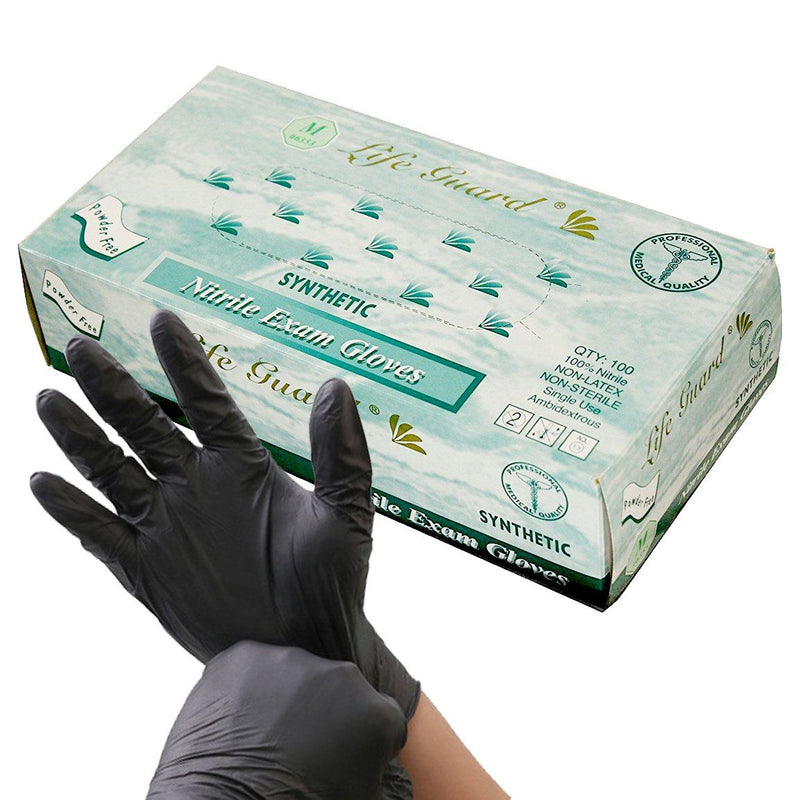 Nitrile Unpowdered Gloves General Merchandise Mila Wholesale Black Small