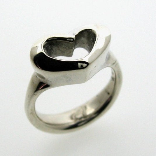 Sterling Silver Sculpted Heart Ring