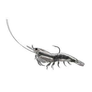"LiveTarget Lures Rigged Shrimp Soft Plastic Saltwater, 4"", #2/0 Hook, Variable Depth, Clear Shrimp"