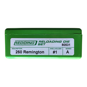 Redding Reloading Full Length 2 Die Set 260 Rem