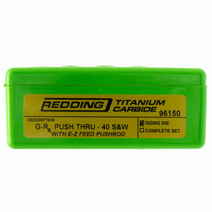 Redding Reloading G-Rx Push-Thru Base Carbide Sizing Die