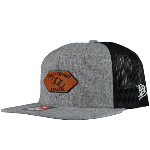 Offset Leather Trucker Snapback