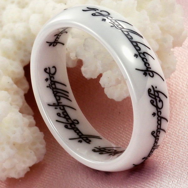 the one ring ceramic hobbit forge - The One Ring Wedding Band