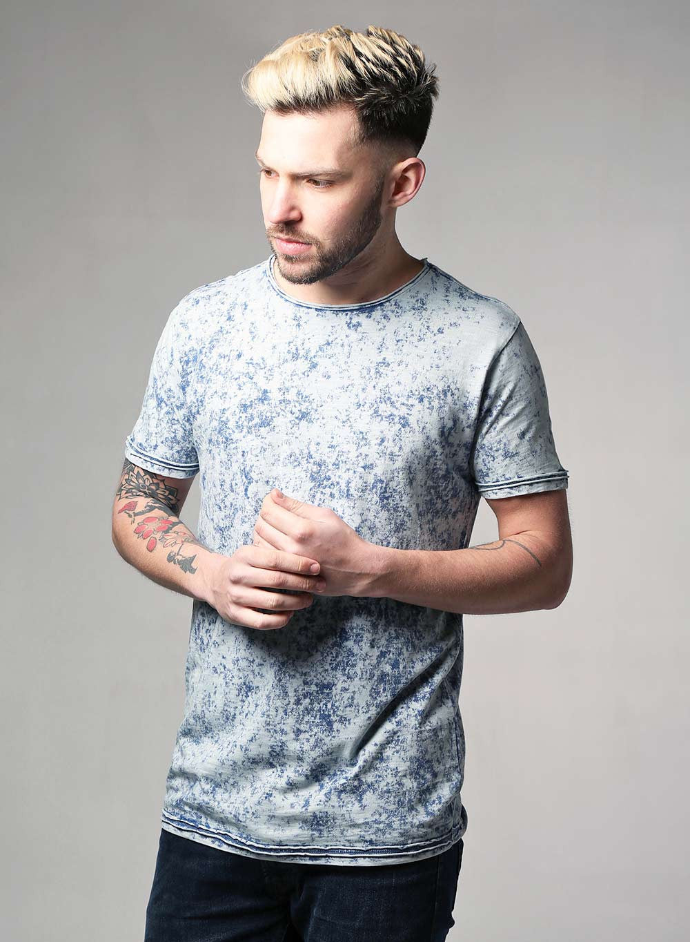 Retro Acid Wash Slim Fit T-shirt - LoveClothing.com - 1