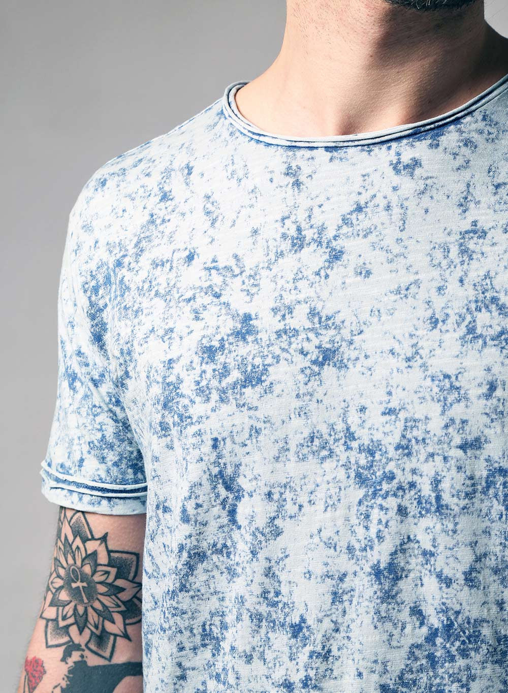 Retro Acid Wash Slim Fit T-shirt - LoveClothing.com - 5