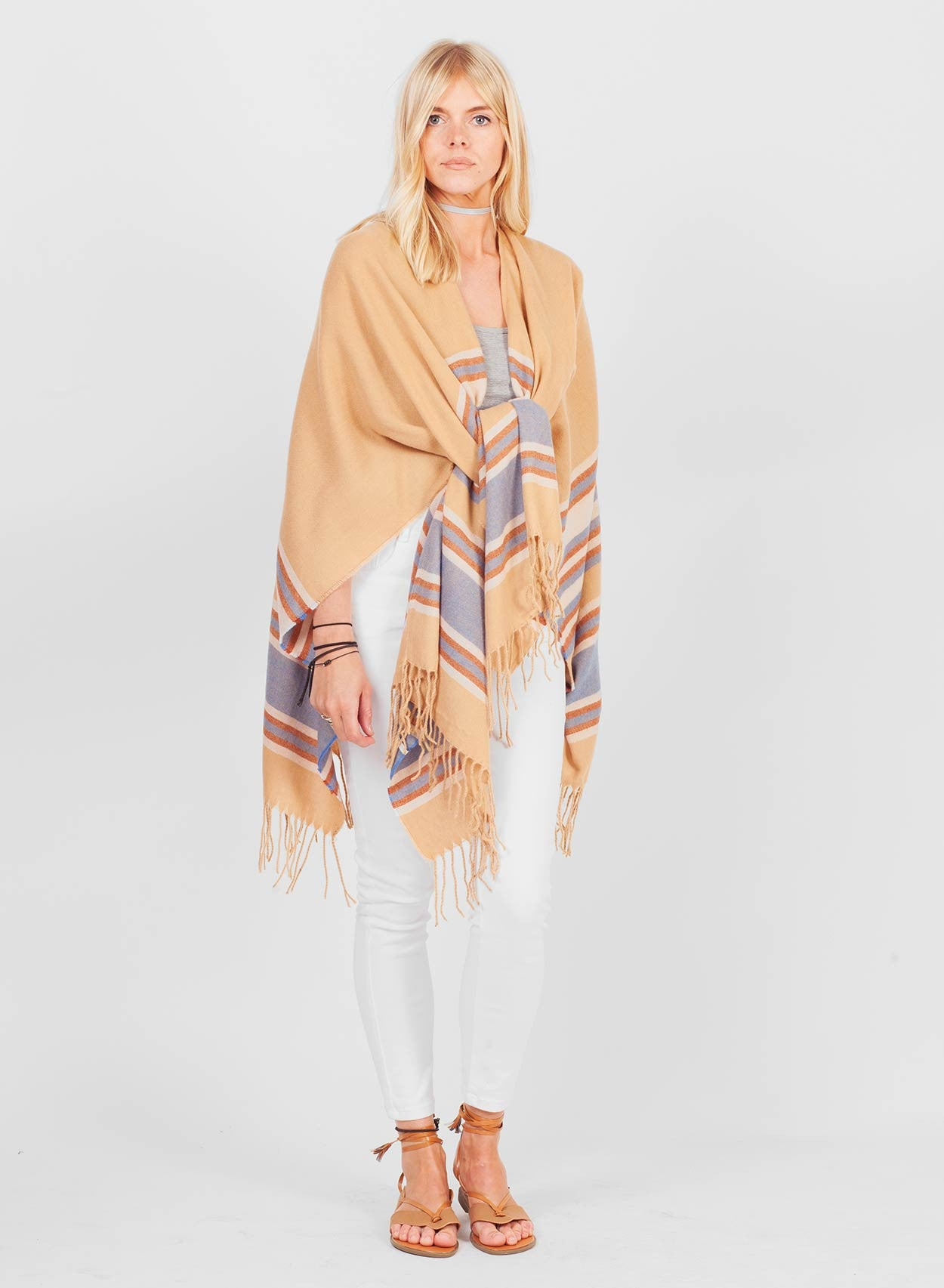 Super Soft Camel Blanket Cape - LoveClothing.com - 4