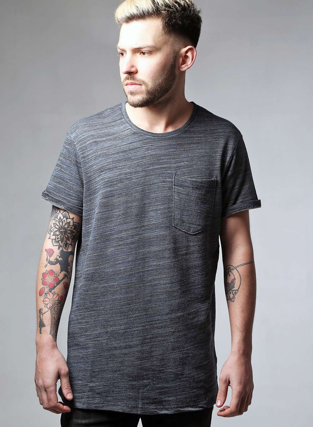 Heavy Knit Textured T-shirt - LoveClothing.com - 1