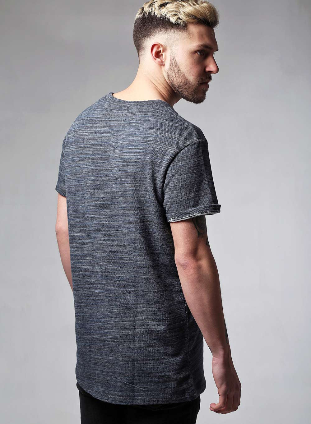 Heavy Knit Textured T-shirt - LoveClothing.com - 3