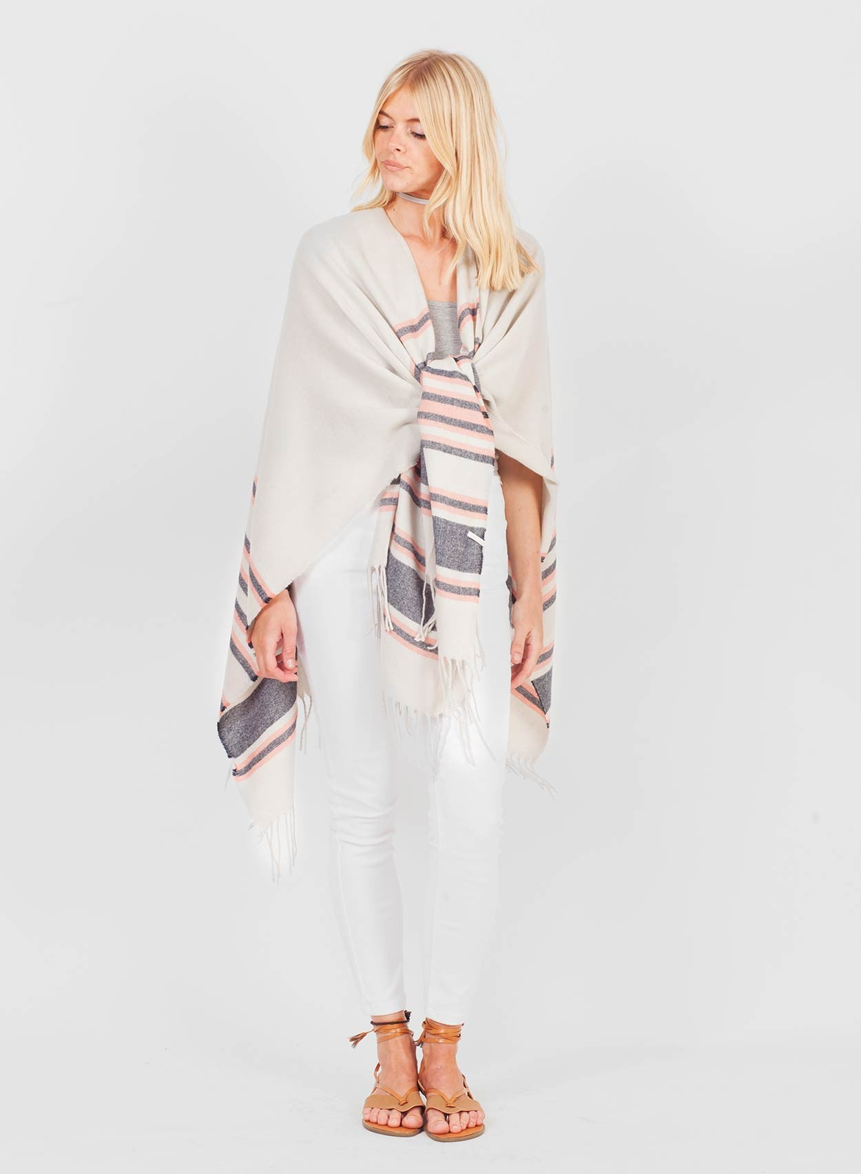 Super Soft White Blanket Cape - LoveClothing.com - 4
