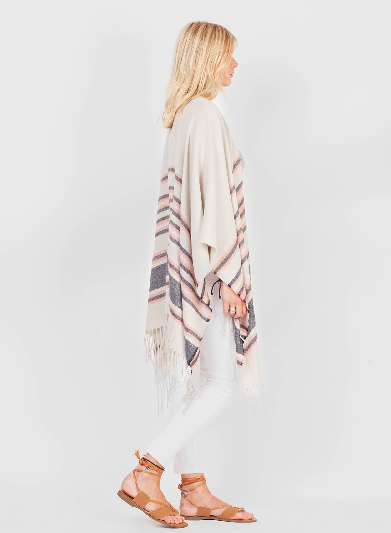 Super Soft White Blanket Cape - LoveClothing.com - 6
