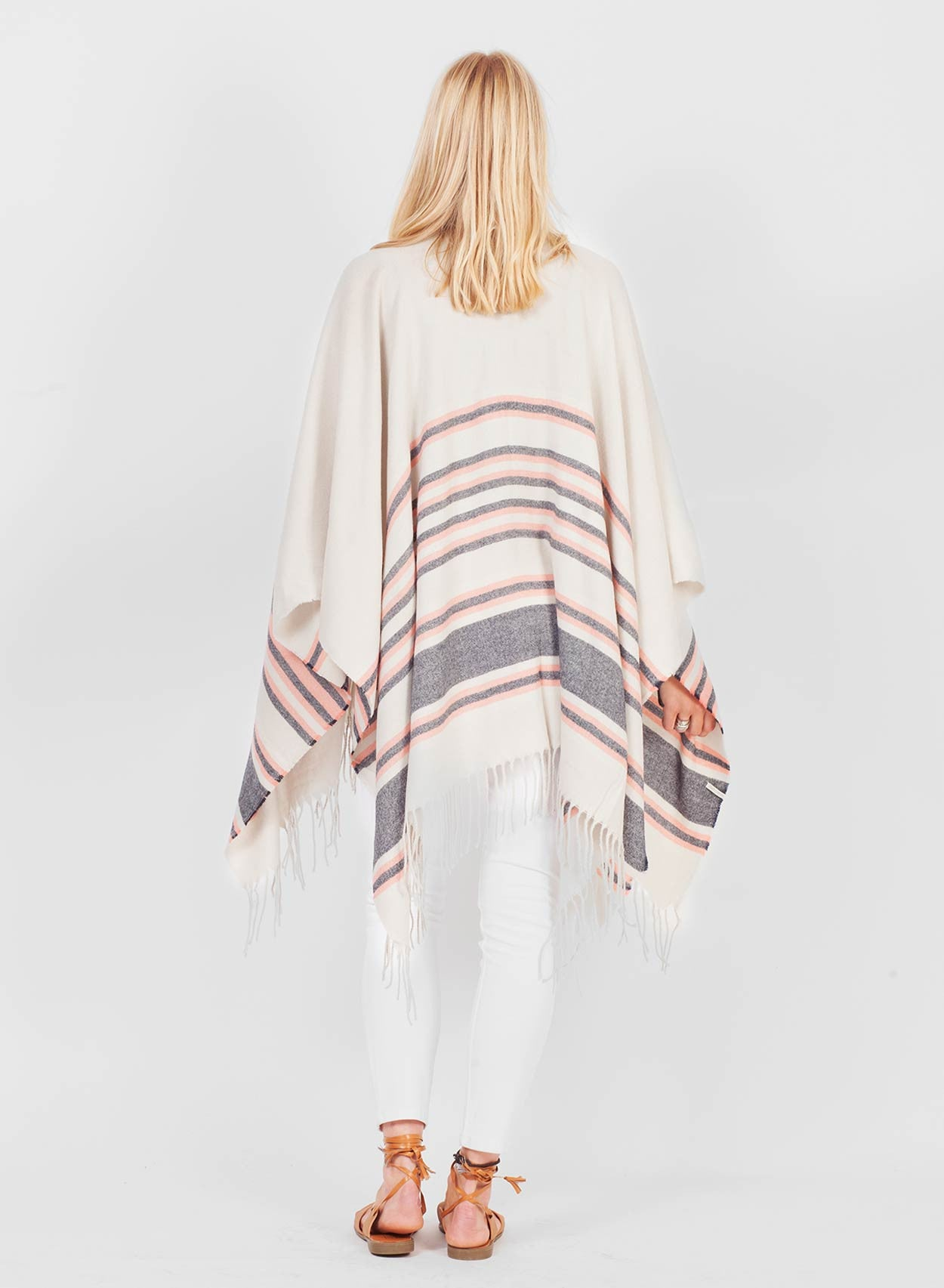 Super Soft White Blanket Cape - LoveClothing.com - 1