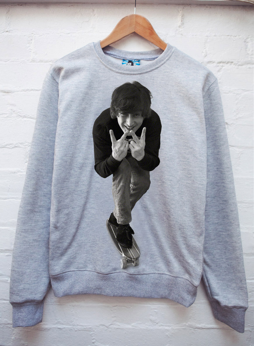 Retro John Lennon Jumper Grey - LoveClothing.com - 1