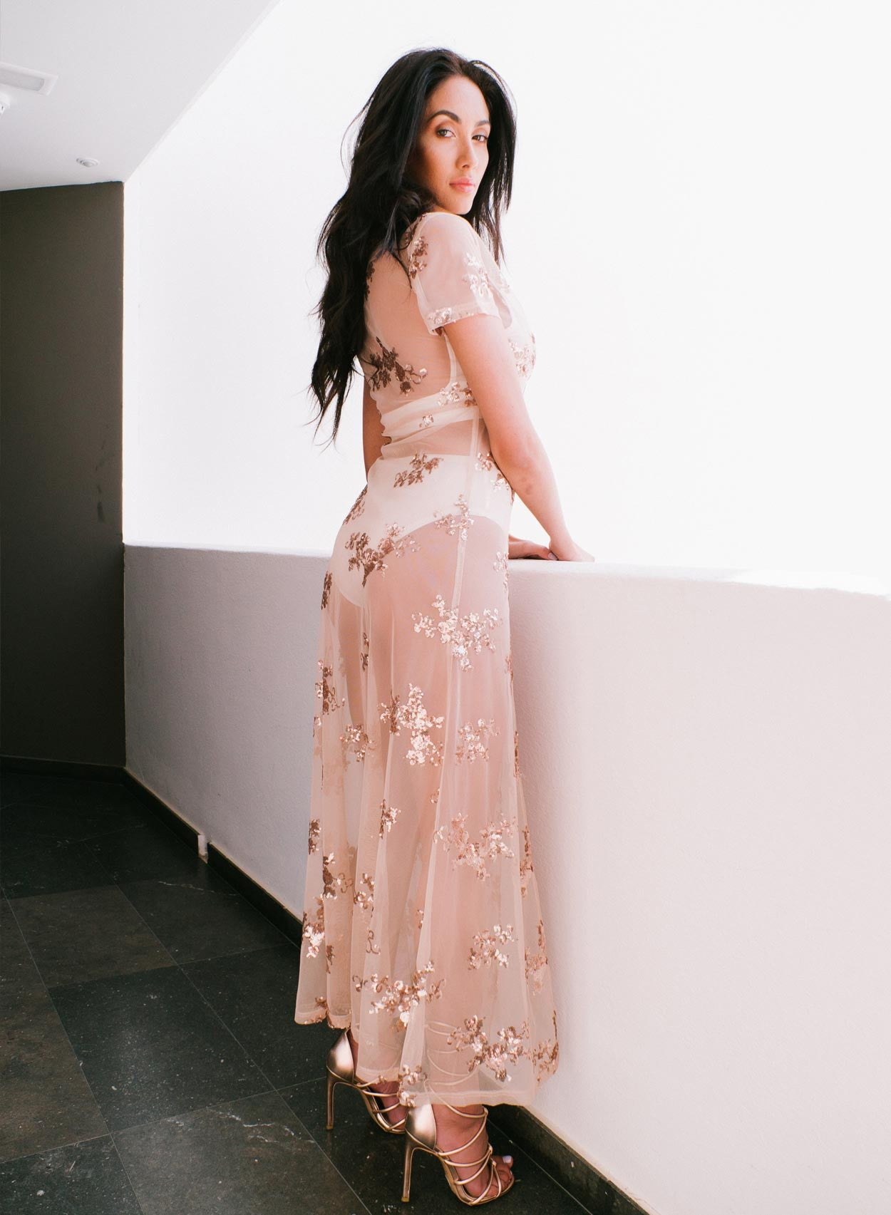 Love Champagne Maxi Rose Gold Dress