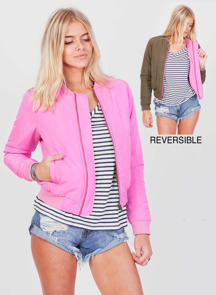 Love Reversible Bomber