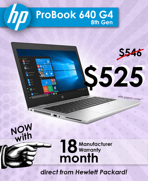 Get the HP Probook 640 G4 with $21 off!