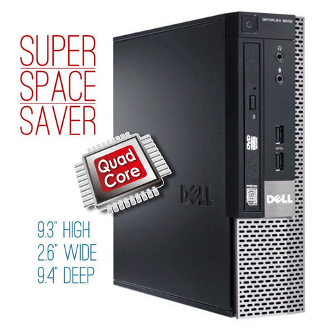$189 DELIVERED ($297 without code 90XL) Dell Optiplex 9010 USFF • 3rd Generation INTEL CORE i5 • WIN 10 Home 64 Bit • 320GB HDD • 4GB RAM • DVD • FREE SHIPPING • $189 with Code: 90XL