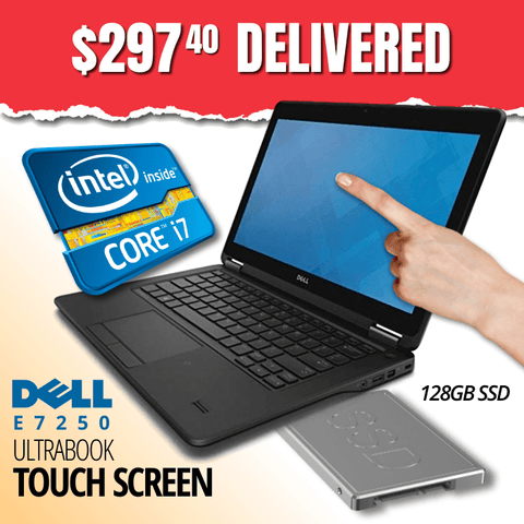 Dell Latitude E7250 Ultrabook TOUCHSCREEN, Grade B • INTEL CORE i7 • 128GB SSD • 8GB RAM • Win 10 Pro 64 Bit • Webcam • WiFi • HDMI • FREE SHIPPING • Grab One at This BLOWOUT PRICE!