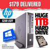 HP 8200 ELITE USFF • INTEL CORE i5 • WIN 10 Home 64 Bit • 1TB HDD • 4GB RAM • DVD • FREE SHIPPING • $179 DELIVERED!