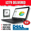 "$279 DELIVERED • Dell Latitude E5550 UltraBook • 15.6"" Screen • Grade B • Intel Core i5 • 160GB SSD • 8GB RAM • Win 10 Professional, 64 Bit • HD Webcam • FREE SHIPPING"