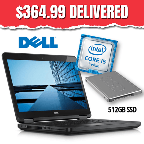 Dell Latitude E5440 • Intel Core i5 • 512GB SSD • 8GB RAM • Win 10 Pro 64 Bit • HD Webcam • DVD • FREE SHIPPING • Only $364.99 DELIVERED!