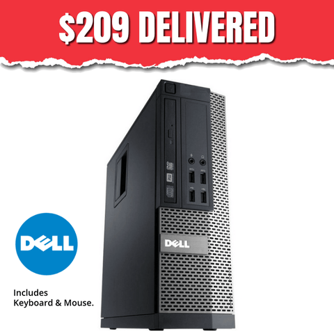 $209 ($299 without code DF90) Dell Optiplex 790 SFF • Intel Core i3 • Win 10 Home 64 Bit • 500GB Hard Drive • 4GB RAM • DVD • 10 USB Ports • FREE Keyboard & Mouse • FREE Toll Free Tech Support • FREE SHIPPING • $209 With Code: DF90