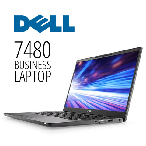 "Dell Latitude 7480 Business Laptop  • 14"" HD Display, 1920 X 1080 Resolution • Intel Core i5 • 256GB SSD • 8GB RAM • Windows 10 PRO 64 Bit • HD Webcam • WiFi • HDMI Ready"