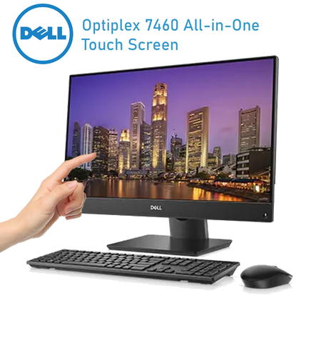 Dell Optiplex 7460 All-in-One • Intel Core i5 • 16GB RAM • 256GB HDD • DVD-writer DVDRW • Windows 10 PRO 64 Bit • Intel HD Graphics 4400 • DDR3 • Touch Screen