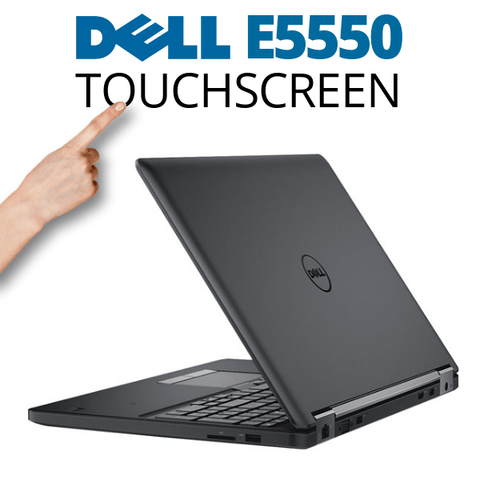 "Dell Latitude E5550 TOUCHSCREEN 15.6"" Laptop OFF LEASE BLOWOUT • Intel Core i5 • 160GB SSD • 8GB RAM • Win 10 Professional, 64 Bit • HD Webcam • FREE SHIPPING"