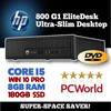 INCREDIBLE $299 DELIVERED HP 800 G1 EliteDesk Ultra Slim • CORE i5, 2.9GHz • WIN 10 PRO 64 Bit • 180GB SSD • 8GB RAM • FREE SHIPPING