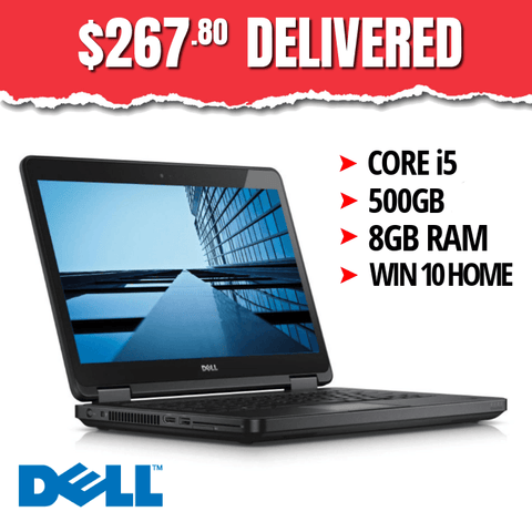 $267.80 ($555 without code GN44) Dell Latitude E5440 • Intel Core i5 • 500GB HDD • 8GB RAM • Win 10 Home, 64 Bit • HD Webcam • DVD • FREE SHIPPING