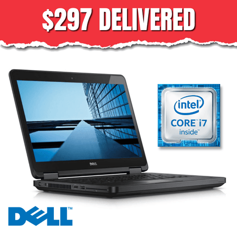 $297 ($599 without code GX54) Dell Latitude E5440 • BLAZING Core i7 Dual Core • 320GB Hard Drive • 8GB RAM • Win 10 Professional • HD Webcam • DVDRW • FREE SHIPPING • $297 Delivered with Code: GX54