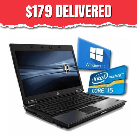 HP EliteBook 8440p  • Core i5 • Win 10 Home 64 Bit • 250GB HDD • 4GB RAM • FREE SHIPPING • $285 without code HT84