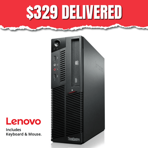 $329 Lenovo M-Series Desktop • Intel Core i5 • 2TB HDD • 16GB RAM • Win Pro 64 Bit • DVDRW • FREE SHIPPING