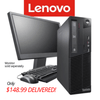 $148.99 DELIVERED OFF LEASE BLOWOUT! Lenovo M91 SFF Desktop • Intel Dual Core 2.9GHz • 500GB HDD • 6GB RAM • Win 10 Home 64 Bit • DVD • FREE Keyboard & Mouse • FREE SHIPPING • $148.99 DELIVERED!