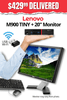 "Lenovo ThinkCentre M900 TINY Desktop + 20"" Major Brand, Flat, LCD Widescreen Monitor • Core i5 6500T 2.5Gz • 480GB SSD • 8GB RAM • Win 10 Professional 64 Bit • FREE SHIPPING • FREE Mouse & Keyboard • $429.99 DELIVERED!"