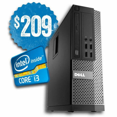 Dell Desktops $209 ($299 without code DF90) Dell Optiplex 790 SFF • Intel Core i3 • Win 10 Home 64 Bit • 500GB Hard Drive • 4GB RAM • DVD • 10 USB Ports • FREE Keyboard & Mouse • FREE Toll Free Tech Support • FREE SHIPPING • $209 With Code: DF90