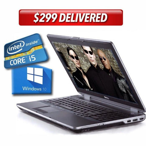 "Dell Laptops $299 ($423 without code: DE65) Dell Latitude E6530 • 15.6"" Widescreen HD • Super-Fast Core i5 • 320GB • 8GB RAM • Win 10 Home 64 Bit • HD Webcam • DVDRW • FREE SHIPPING • $299 with code: DE65"