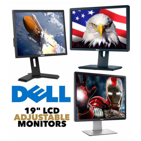 "Dell LCD Monitor 19"" Dell LCD Monitor • Certified Grade B Refurbished • Fully Adjustable • 16 Million Colors • Anti-Glare • LED Backlit • Multiple Connectivity • FREE SHIPPING • QTY DISCOUNTS • AS LOW AS $24.95 EACH!"