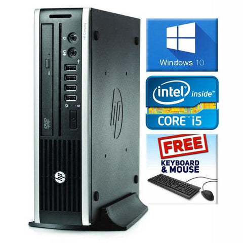 HP Desktops $199 ($329 without code TB20) HP 8200 ELITE USFF • INTEL CORE i5 • WIN 10 Home 64 Bit • 1TB HDD • 4GB RAM • DVD • FREE SHIPPING • $199 with code TB20