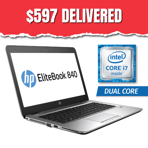 "HP 14"" EliteBook 840 G3, Grade B  • Intel Core i7 Dual Core • 240GB SSD • 8GB RAM • Win 10 Professional 64 Bit • HD Webcam • WiFi • FREE SHIPPING • $597 DELIVERED ($985 Without Code: VX84)"