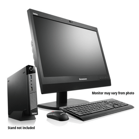 "Lenovo ThinkCentre M92 TINY Desktop + 20"" Major Brand Flat, LCD Monitor • Core i5 3470T 2.9Gz • 500GB HDD • 8GB RAM • Win 10 PRO 64 Bit"