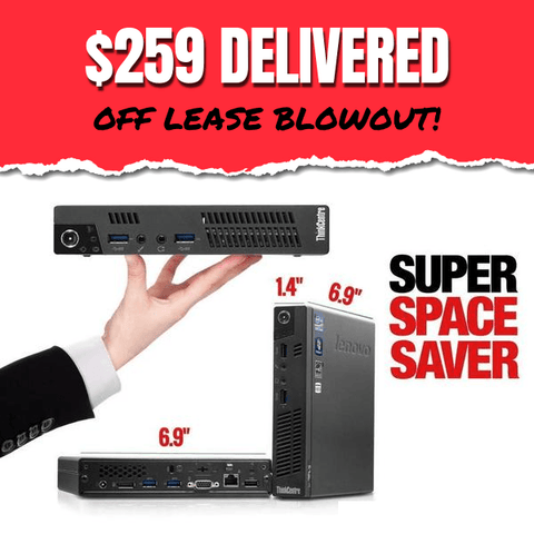$259 DELIVERED • Lenovo ThinkCentre M93P TINY Desktop OFF LEASE BLOWOUT • Core i5 • 320GB HDD • 8GB RAM • Win 10 Home 64 Bit • FREE SHIPPING