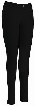 TuffRider Women's Starter Lowrise Pull-On Breech, Black, 36