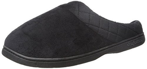 Dearfoams Women's Velour Clog Mule, Black, Small/5-6 M US