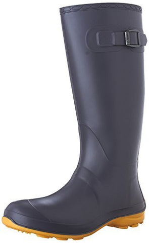 Kamik EK2102 Women's Oliva Rubber Boot, Charcoal/Amber - 9