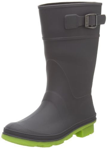 Kamik Raindrops Rain Boot (Little Kid/Big Kid),Charcoal,6 M US Big Kid