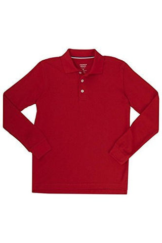 French Toast Long Sleeve Pique Polo Boys Red 5