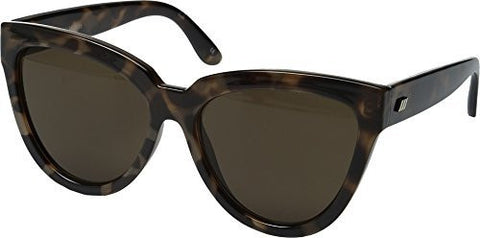 Le Specs Women's Liar Liar Sunglasses, Volcanic Tort/Brown Mono, One Size