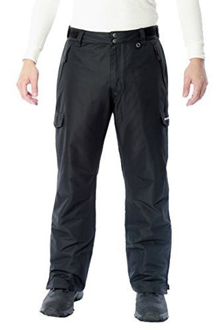 SkiGear by Arctix Men's Waterproof Insulated Ski Pants | Cargo Style Snow Pants with ThermaTech Insulation